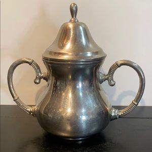Vintage Rio Silver Sugar Bowl ~ Holland
